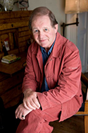 Michael Morpurgo at his writing desk